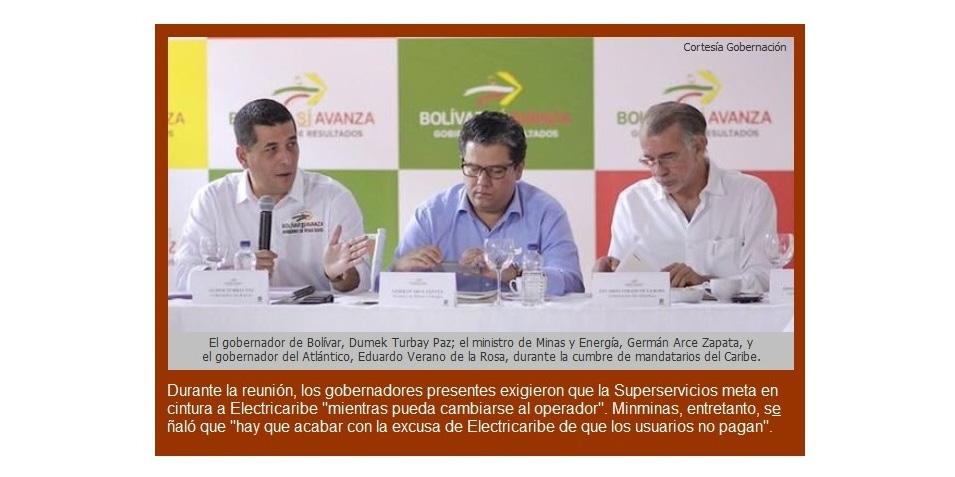 Gobernadores de la Región Caribe le piden otra vez a Electricaribe «que cumpla o se vaya»
