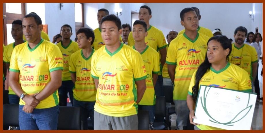 Deportistas que dejaron en alto los colores de Bolívar, destacados por el gobernador