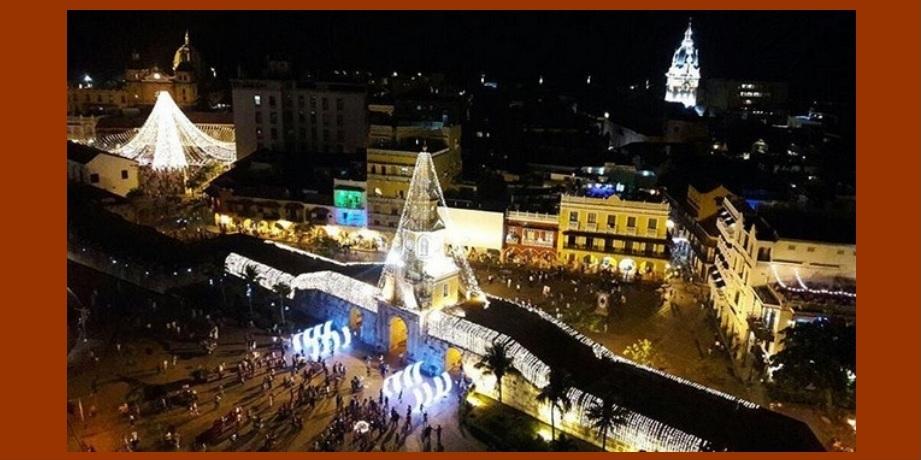 El Distrito encendió las luces navideñas en las tres Localidades de Cartagena
