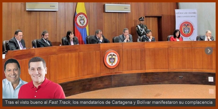 Dirigentes de Cartagena y Bolívar reaccionan ante el Vo. Bo. al Fast track