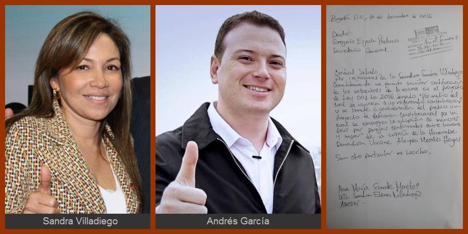 Villadiego y García piden que se aclare cómo votaron Ley de Referendo