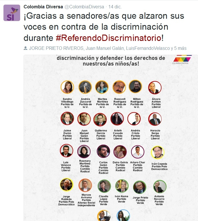 Tuit de Colombia Diversa