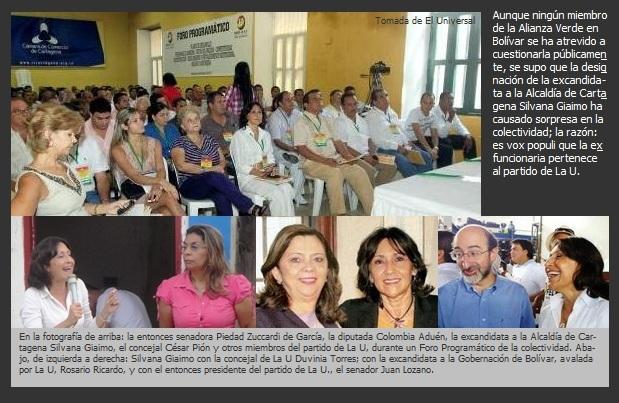 Del partido de La U, la coordinadora de la campaña de Enrique Peñalosa en Bolívar