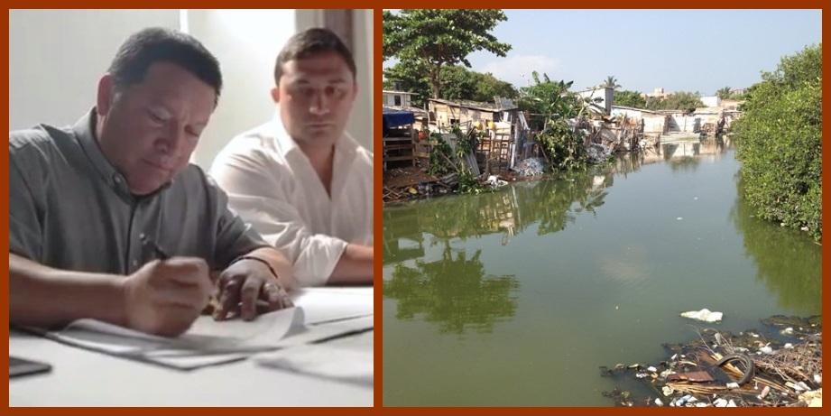 Alcalde de Cartagena y gerente de Edurbe dan largada al Sistema de Alcantarillado Pluvial
