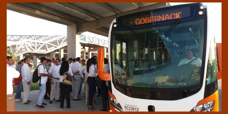 ¡Empleados y usuarios de la Gobernación de Bolívar ya cuentan con Transcaribe!
