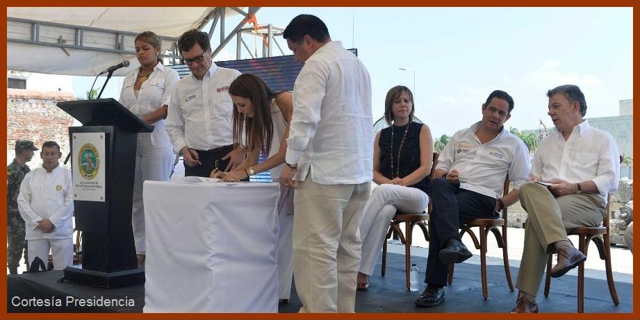 Gobiernos nacional y local firman convenios para proyectar la Cartagena del Futuro
