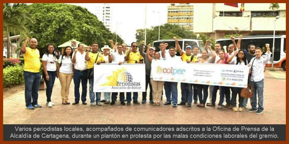 Comunicadores de Cartagena exigen a sus empleadores condiciones laborales dignas