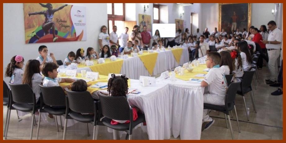 La niñez se toma la Gobernación de Bolívar