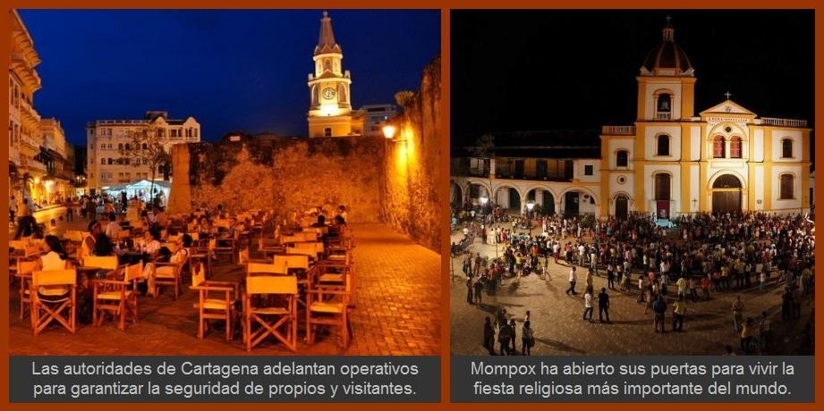 Cartagena y otras poblaciones de Bolívar, en modo Semana Santa