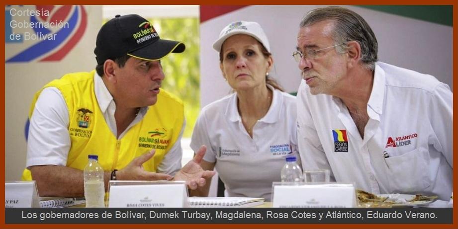 Bolívar, Atlántico y Magdalena unen esfuerzos para prevenir desastres en los sures