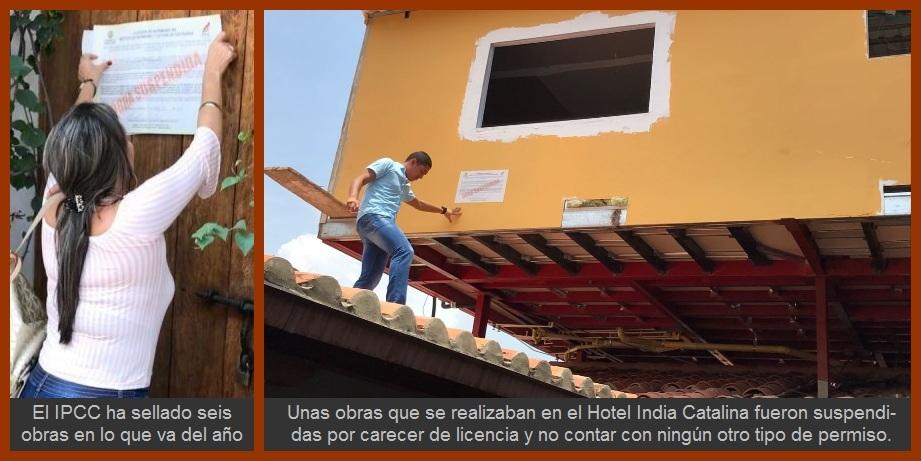 Continúan hallándose, y sellándose, obras que se construían sin licencia en Cartagena