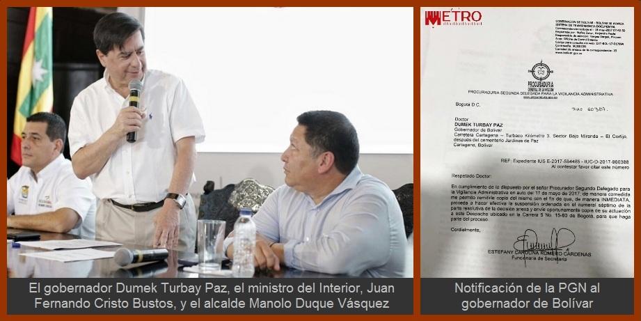 Al Gobierno Nacional también le preocupan los efectos de una larga interinidad en Cartagena
