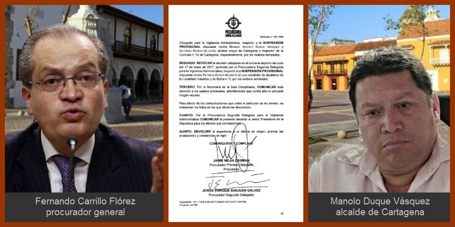 Procuraduría ratifica suspensión del alcalde Manolo Duque y del inspector de la Comuna 12