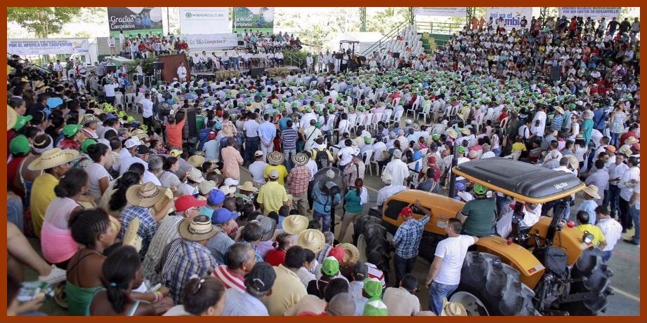 Los agricultores de Bolívar celebraron el primer Día del Campesino en tiempos de paz