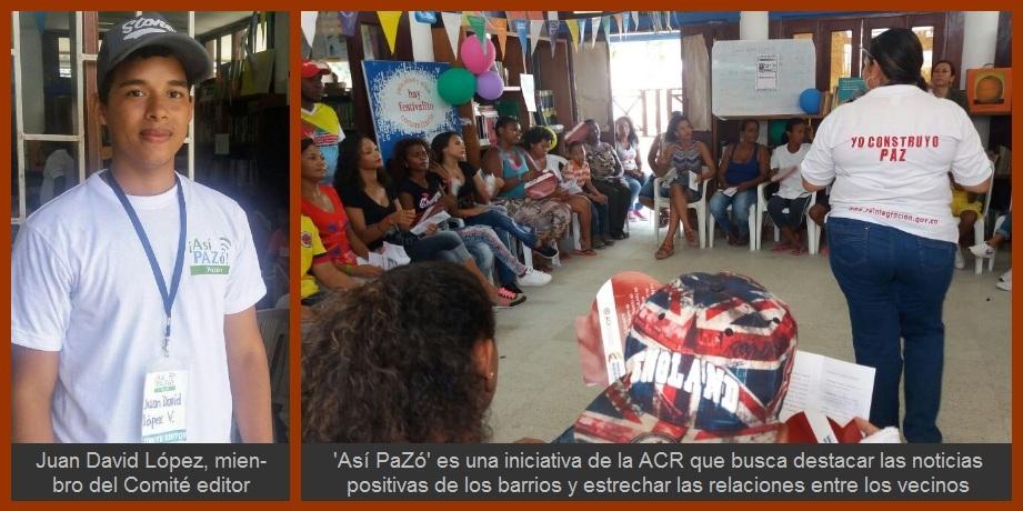 'Así PaZó', un proyecto de la Agencia para la Reincorporación y la Normalización para el fortalecimiento comunitario