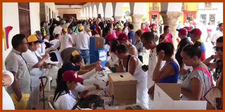 3.573 venezolanos votaron en Cartagena en contra de la Constituyente de Maduro