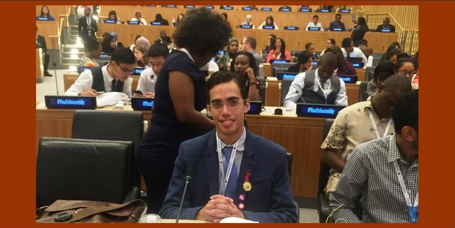Líder juvenil cartagenero, el mejor delegado extranjero en las Naciones Unidas