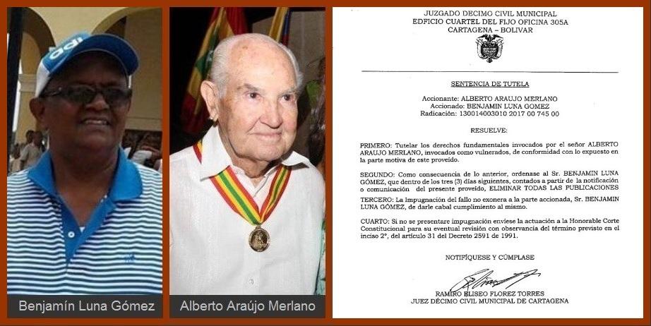 Por orden de un juez, Benjamín Luna presenta disculpa a Alberto Araújo «por afectar su honra»