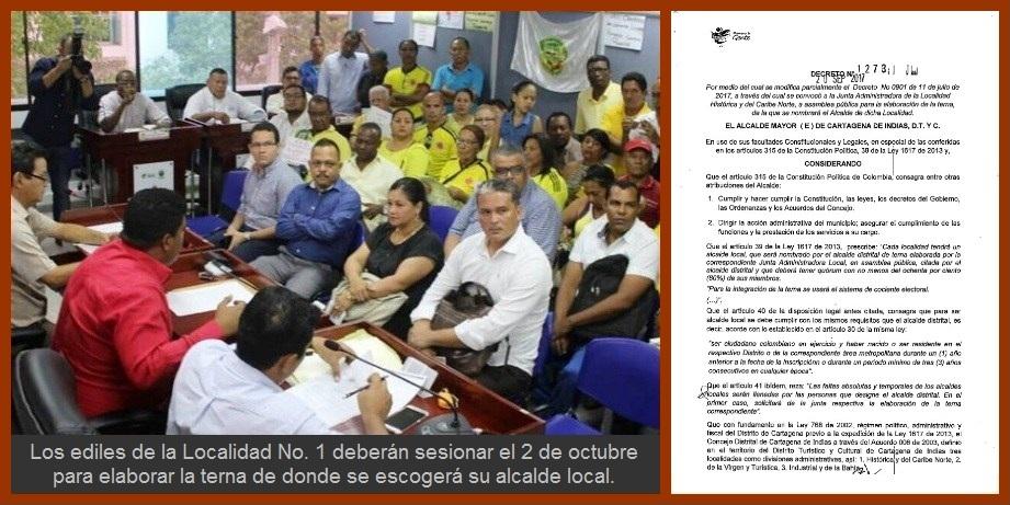 Ediles de la Localidad Uno, a conformar la terna para alcalde local el próximo 2 de octubre