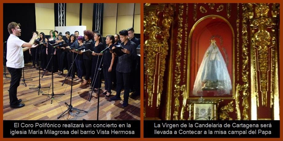 Un concierto y una procesión, eventos que calientan el ambiente de cara a la visita papal