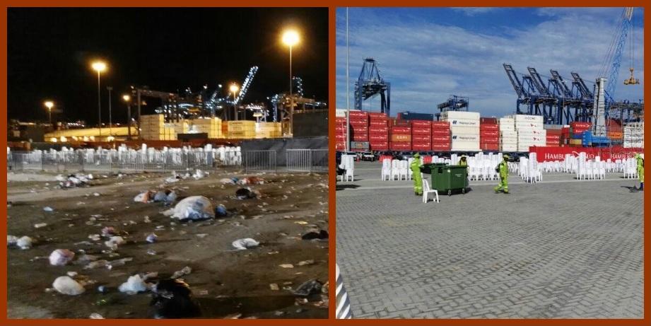 Cien operarios y 10 supervisores recolectaron 60 toneladas de basura en Contecar