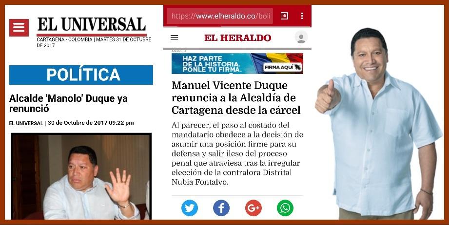 Manolo Duque, ¿renunció a espaldas de sus más entusiastas aliados y seguidores?