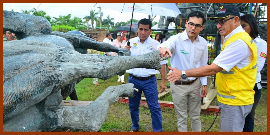 Hijo del escultor Héctor Lombana, complacido con avances de la restauración de Los Pegasos