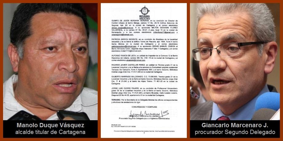 Auto de la Procuraduría en favor de Manolo Duque remueve el cotarro político