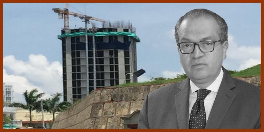 Cuando van construidos 21 pisos, la PGN vio por fin edificio a 200 metros del Castillo San Felipe