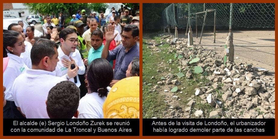 El alcalde (e) del Distrito escuchó a la comunidad y ordenó cerrar obra en La Troncal