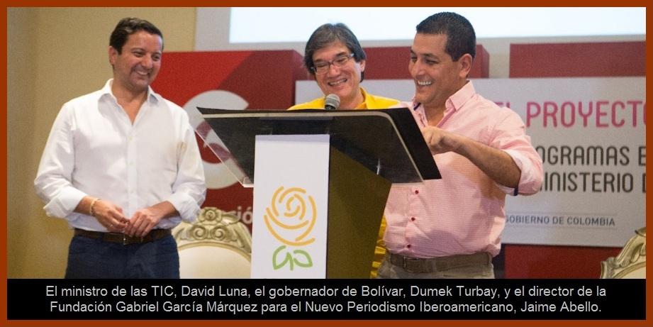 Mintic, FNPI y 'Bolívar Sí Avanza' firman convenio y presentan avances del Centro Gabo