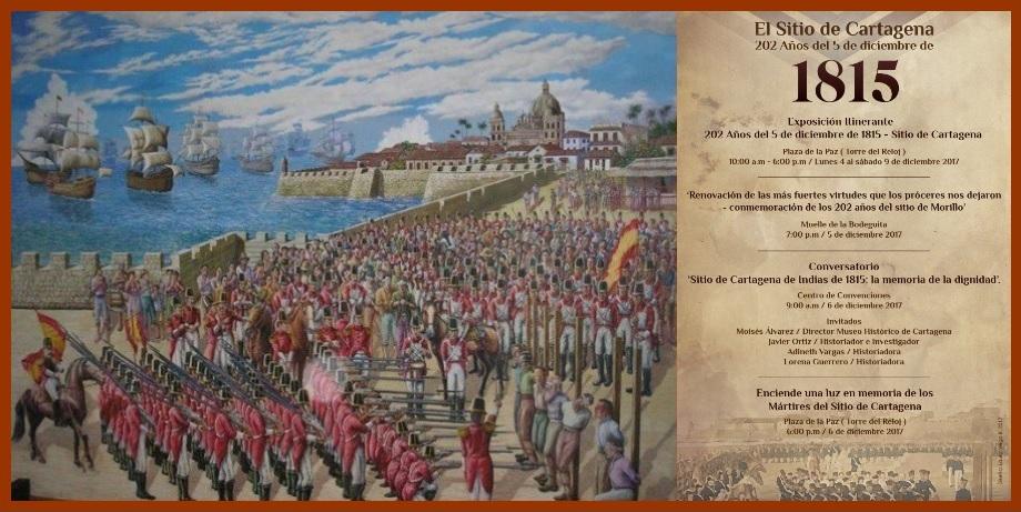 Con varios eventos el IPCC conmemora el Sitio de Cartagena este 6 de diciembre