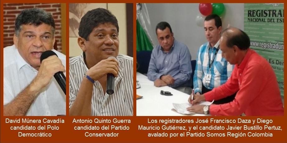 Comienza desfile por la Registraduría: Javier Bustillo, el primero en inscribir su candidatura