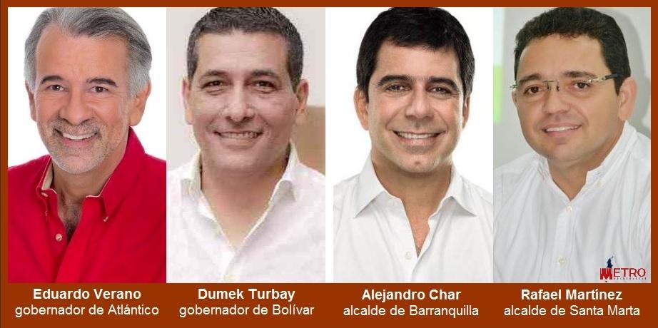 De la Región Caribe, los cuatro mandatarios del país con mejor imagen