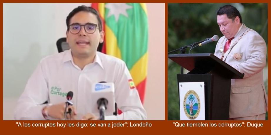 Alcaldes de Cartagena (titular e interino) contra la corrupción y el clientelismo