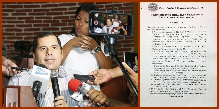 «Por una clara omisión del Distrito los colegios oficiales se quedaron sin vigilancia»: Toncel