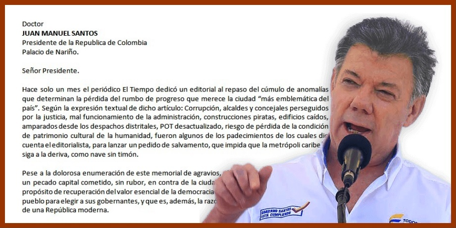 Piden a Santos no seguir aplazando «nuestro derecho a elegir a nuestros gobernantes»