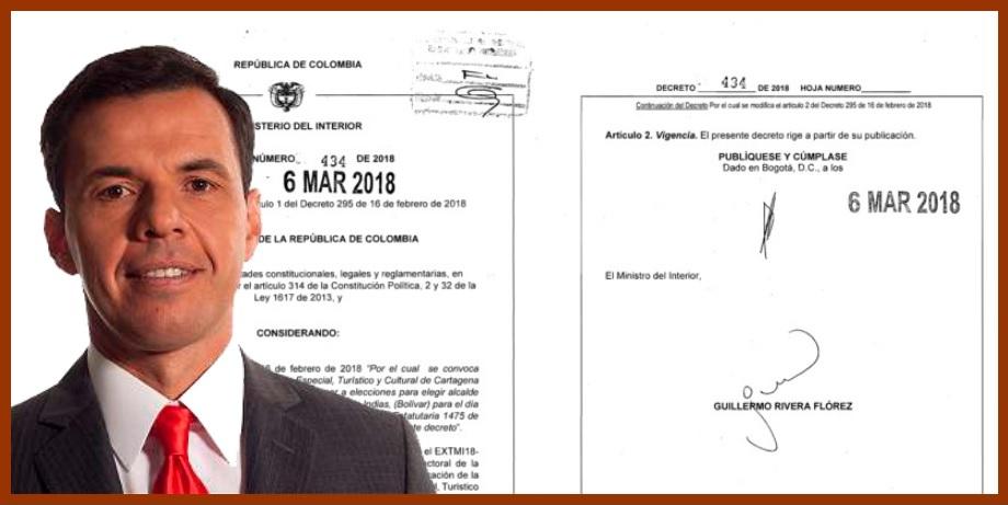 «Lo único que hicimos fue atender una solicitud del registrador»: ministro Rivera