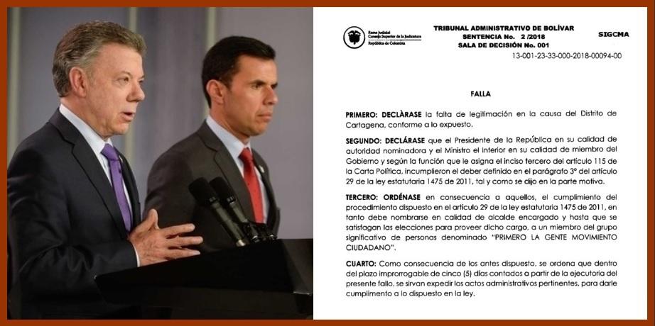 Un magistrado del Tribunal de Bolívar decidirá si se alarga o no la era Londoño