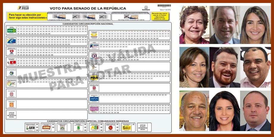 Cuáles serían los senadores con mayor votación en el Departamento de Bolívar
