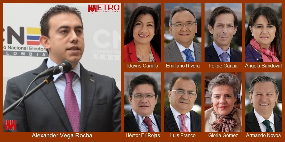 Estos son los nueve magistrados del CNE que podrían definir hoy el futuro de Cartagena
