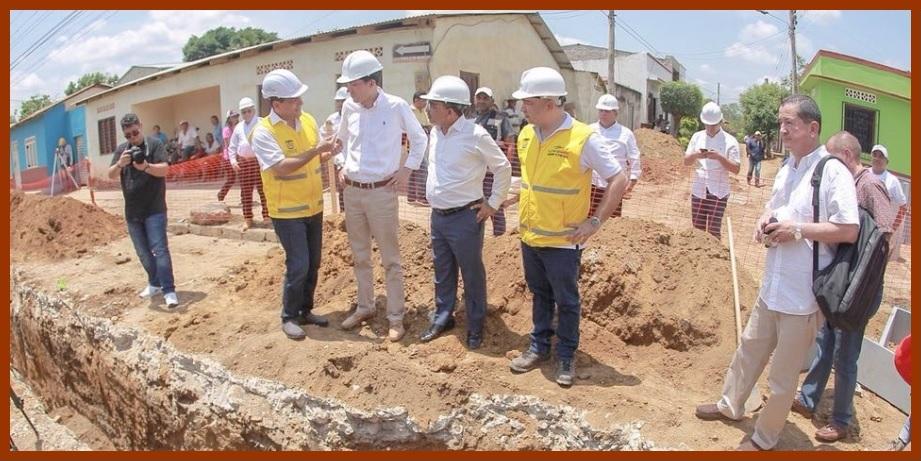 Gobernador de Bolívar y director del DNP revisan avances de obras en el Departamento