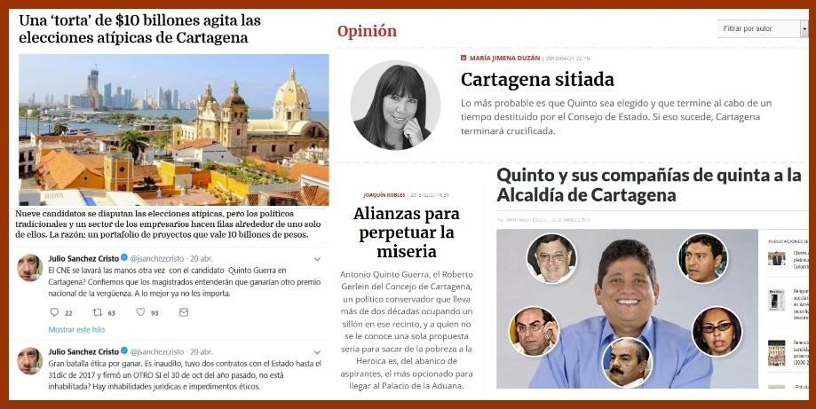 Cartagena, otra vez en el ojo del huracán y bajo la lupa de los medios nacionales