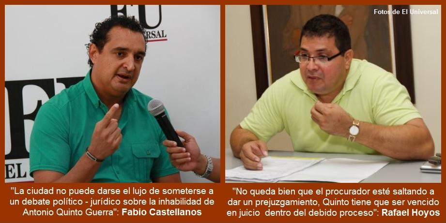 Pronunciamiento sobre inhabilidad de Quinto enfrenta a abogados y periodistas
