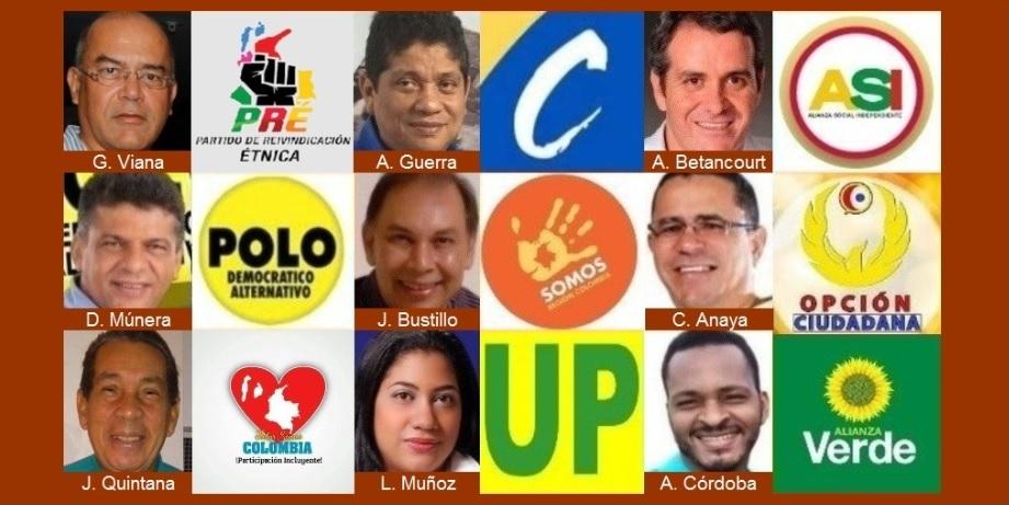 Candidatos a la Alcaldía de Cartagena ya conocen el lugar de sus fotos en el tarjetón
