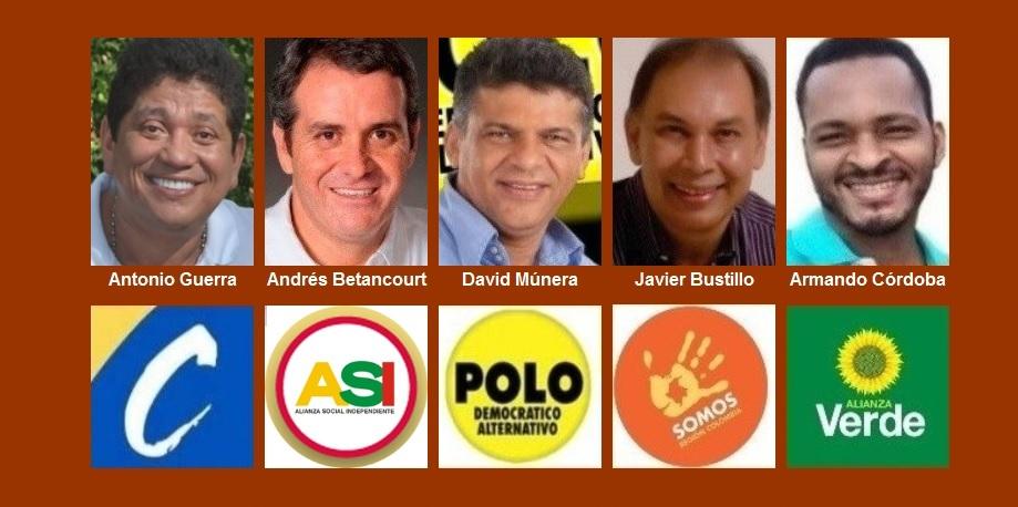Estos son los cinco ciudadanos que aspiran a regir los destinos de Cartagena hasta el 2019