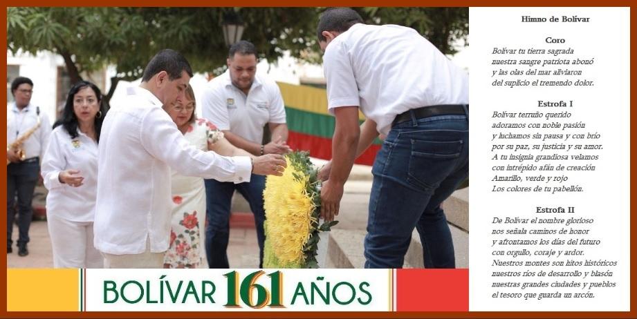 En el municipio de Mompox se celebró el 161° Aniversario del Departamento de Bolívar