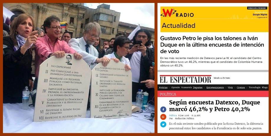 Apoyo ciudadano a Gustavo Petro, en franco ascenso en todo el país
