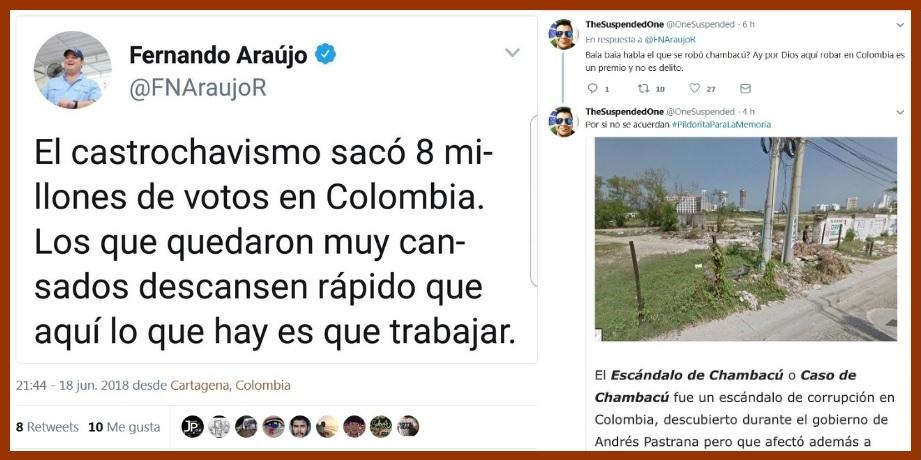 El desafortunado trino del senador Araújo que encendió las redes sociales