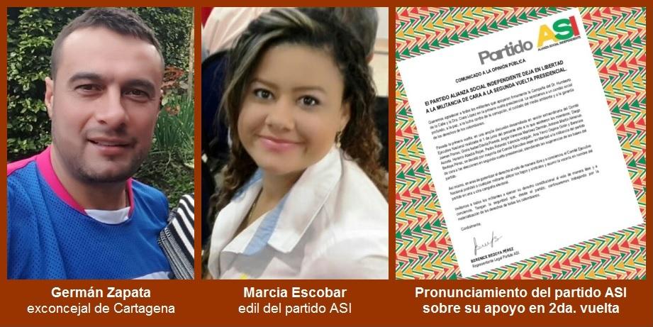 Dirigentes de ASI en Cartagena se inclinan por el apoyo a Petro